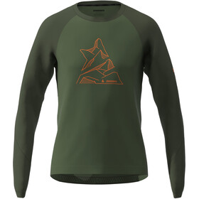 Zimtstern PureFlowz T-shirt Manches longues Homme, bronze green/forest night